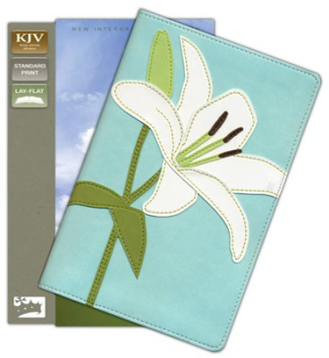 KJV Bloom Collection Bible, Italian Duo-Tone, White Lily